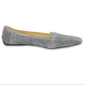 Talbots Grey Suede Penny Pointed Loafer Size 6M